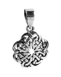 Aeravida | Metallic Eternal Celtic Heart Knot Sterling Silver Pendant | Lyst