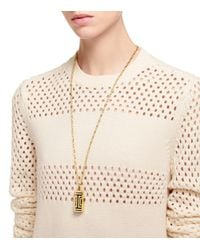 Tory Burch | Metallic For Fitbit Fret Pendant Necklace | Lyst