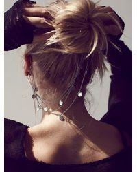 Free People | Metallic Ear Cuff To Hair Chain | Lyst