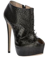 Ruthie Davis | Black 'Banks' Ankle Boot | Lyst