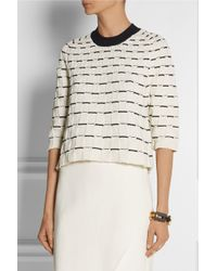 3.1 Phillip Lim - White Two-tone Textured-knit Sweater - Lyst