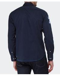 La Martina   Blue Long Sleeved Logo Shirt for Men   Lyst