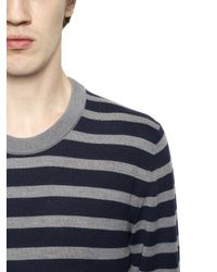 Dolce & Gabbana | Blue Striped Wool Sweater for Men | Lyst