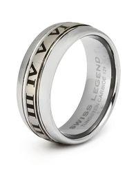 Swiss Legend | Metallic Men's Carbide Tungsten Ring | Lyst