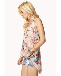 Forever 21 - Multicolor Floral High-Low Top - Lyst