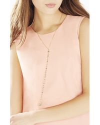 BCBGMAXAZRIA - Green Natural Stone Long Necklace - Lyst