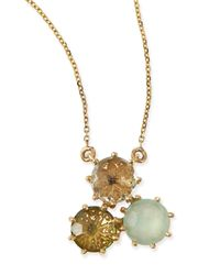 KALAN by Suzanne Kalan | Metallic Multi-stone Green Cluster Pendant Necklace | Lyst