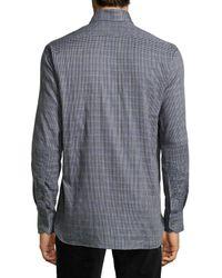 Ike Behar - Gray Check Sport Shirt for Men - Lyst