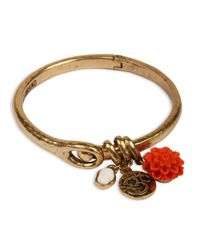 Lucky Brand - Metallic Goldtone Buddha Cuff Charm Bracelet - Lyst