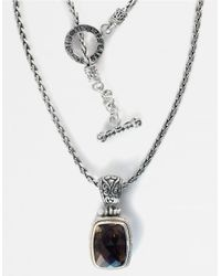 Effy | Brown Balissima Sterling Silver And 18k Yellow Gold Smokey Quartz Pendant | Lyst