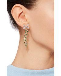 Alison Lou | Metallic Poison Ivy Earrings | Lyst