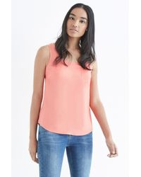 Oasis - Pink Plain Pocket Vest - Lyst