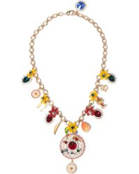 Dolce & Gabbana | Metallic Gold-plated Swarovski Crystal Necklace | Lyst