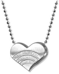 Alex Woo | Metallic Little Faith Rainbow Heart Pendant Necklace In Sterling Silver | Lyst