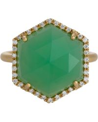 Irene Neuwirth | Green Diamond, Chrysoprase & Gold Ring | Lyst