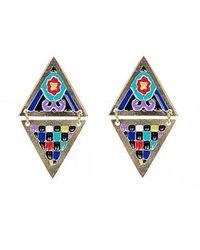 Noir Jewelry | Metallic Ofelia Enamel Earrings | Lyst