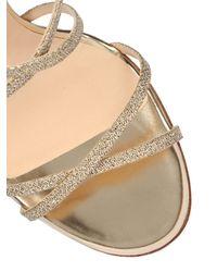 Jimmy Choo - Metallic 100Mm Issey Glitter Sandals - Lyst