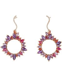 Sharon Khazzam | Purple Mixed-gemstone Drop Earrings-colorless | Lyst