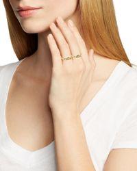 Rebecca Minkoff | Metallic Pavé Triangle Rings, Set Of 2 | Lyst