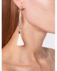 Chloé | Metallic Tassel Earrings | Lyst