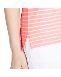 Ralph Lauren Golf | Pink Tailored Golf-fit Striped Polo | Lyst