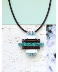 Lily Kamper | Turquoise & Blue Tower Block Pendant | Lyst