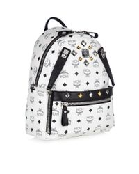 MCM - White Small Dual Stark Backpack - Lyst
