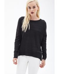 Forever 21 - Black Inverted Seam Knit Sweater - Lyst