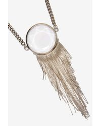 Nasty Gal - Metallic Silver Peacock Pendant Necklace - Lyst