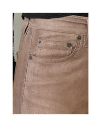 RRL - Natural Stretch Leather Skinny Jean - Lyst