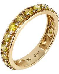 Annoushka | Metallic Dusty Diamonds 18ct Yellow-gold And Diamond Eternity Ring | Lyst