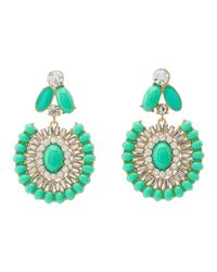 kate spade new york | Green Capri Garden Statement Earrings | Lyst
