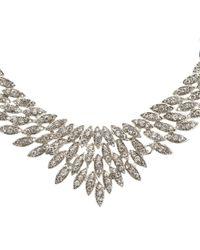 John Lewis | Metallic Cubic Zirconia Leaf Fan Necklace | Lyst
