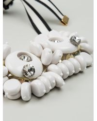 Marni - White Chunky Bead Necklace - Lyst