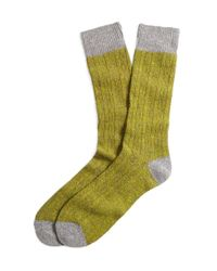 Brooks Brothers - Gray Donegal Tweed Cable Socks for Men - Lyst