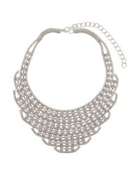 Mikey | White Chain Link Red Indian Necklace | Lyst