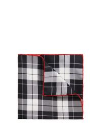 HUGO - Black Silk Pocket Square: 'pocketsquare 33x33cm' for Men - Lyst