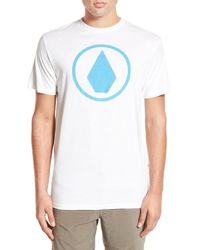 Volcom - White 'solid Stone' Graphic Crewneck T-shirt for Men - Lyst
