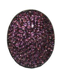 Adornia - Pink Rhodolite Garnet And Sterling Silver Farrah Ii Ring - Lyst
