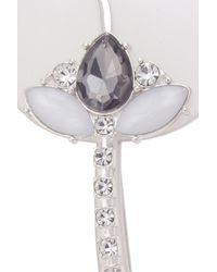 Oasis - Metallic Perspex Flower Brooch - Lyst
