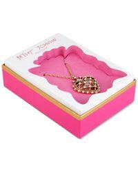Betsey Johnson | Metallic Gold-tone Crystal Heart Pendant Necklace | Lyst