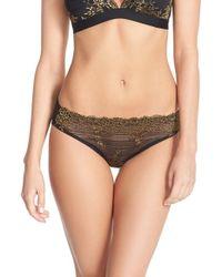 Wacoal - Black 'embrace' Lace Bikini - Lyst
