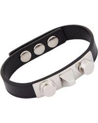 Saint Laurent - Metallic Gourmette Clous Bracelet - Lyst
