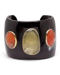 Ashley Pittman - Multicolor Dark Horn Cuff Bracelet - Lyst