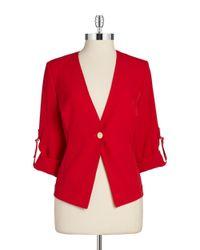 Calvin Klein | Red Plus One-Button Blazer | Lyst