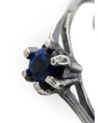 Puro Iosselliani - Metallic Saphire Chain Ring - Lyst