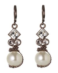 Givenchy - White Rose Gold-Tone Accented Faux Pearl Earrings - Lyst