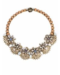 Tataborello | Orange Ambrosia Crystal Necklace | Lyst