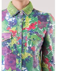 Patricia Viera - Green Floral Print Shirt - Lyst