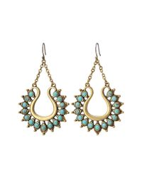 Lucky Brand - Metallic Turquoise Spike Earrings - Lyst